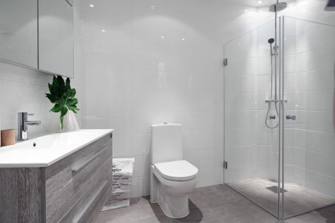 浴室洗漱台北欧风格装修图片