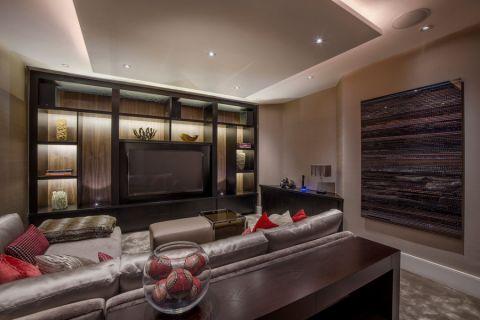 客厅博古架现代风格装潢设计图片