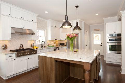 厨房美式风格效果图大全2017图片_土拨鼠豪华雅致厨房美式风格装修设计效果图欣赏
