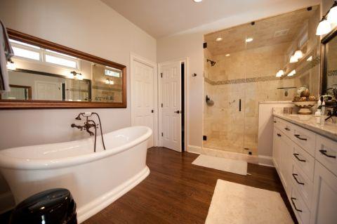 浴室浴缸美式风格装修图片
