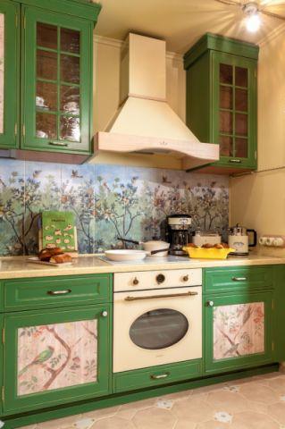 厨房地砖混搭风格装修图片