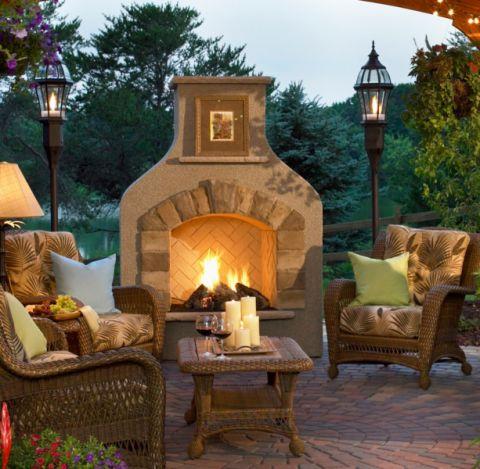 阳台地砖美式风格装饰效果图