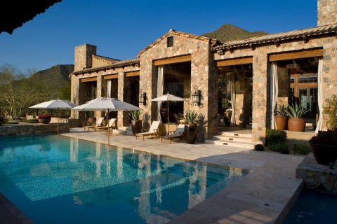 花园泳池地中海风格装潢效果图
