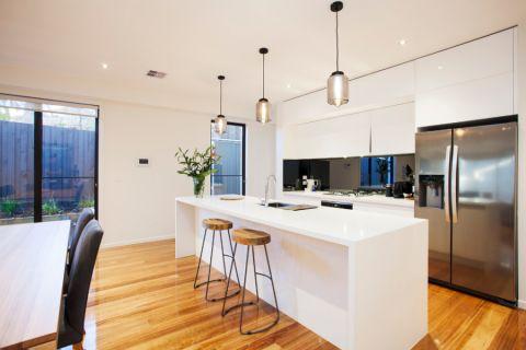 厨房现代风格效果图大全2017图片_土拨鼠清新创意厨房现代风格装修设计效果图欣赏