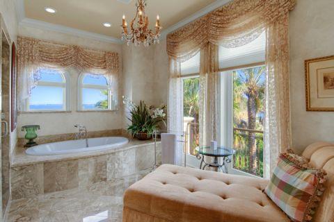 浴室浴缸地中海风格装修效果图