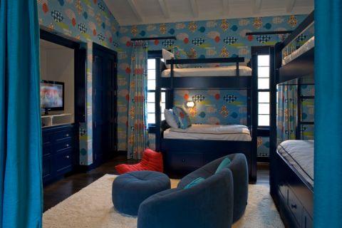 儿童房窗帘地中海风格装饰图片