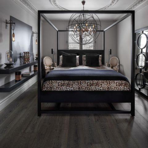卧室混搭风格效果图大全2017图片_土拨鼠清爽纯净卧室混搭风格装修设计效果图欣赏
