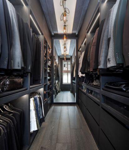 衣帽间衣柜混搭风格装潢设计图片