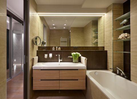 浴室浴缸现代风格装修设计图片
