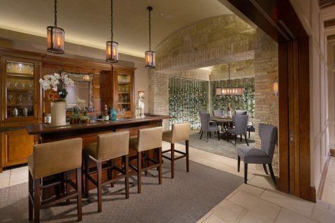 餐厅吧台地中海风格装饰效果图