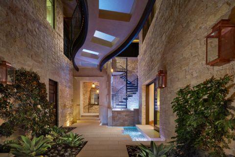 玄关地砖地中海风格装饰设计图片