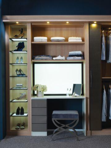 衣帽间衣柜现代风格装潢图片