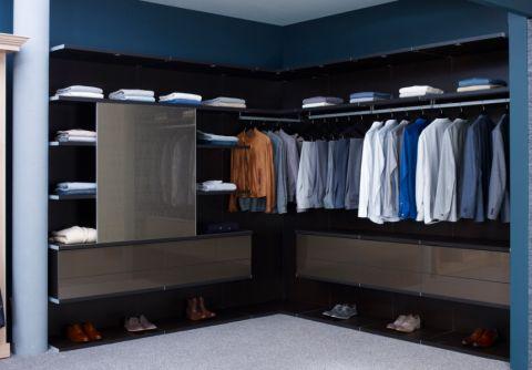 衣帽间衣柜现代风格装潢设计图片
