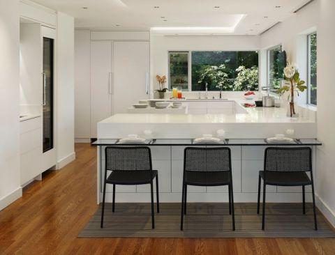 厨房现代风格效果图大全2017图片_土拨鼠清新迷人厨房现代风格装修设计效果图欣赏