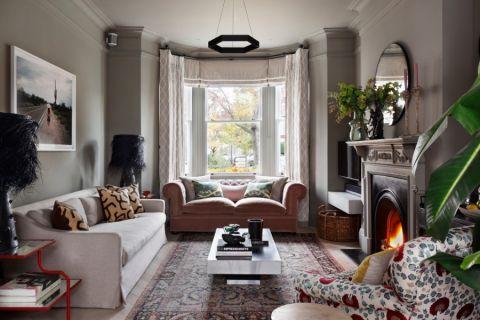 客厅混搭风格效果图大全2017图片_土拨鼠清爽温馨客厅混搭风格装修设计效果图欣赏