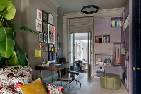 书房照片墙混搭风格装修图片