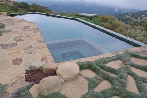 花园泳池美式风格装潢设计图片