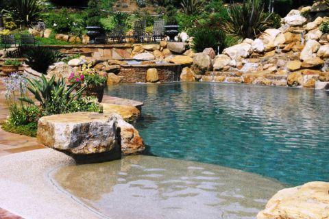 花园泳池美式风格装修图片