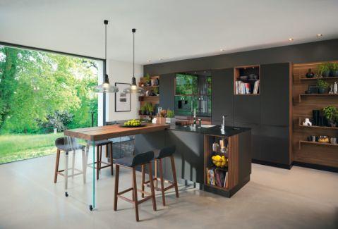 厨房现代风格效果图大全2017图片_土拨鼠美好时尚厨房现代风格装修设计效果图欣赏