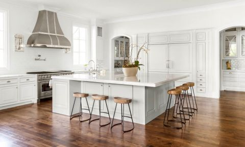 厨房美式风格效果图大全2017图片_土拨鼠清新奢华厨房美式风格装修设计效果图欣赏