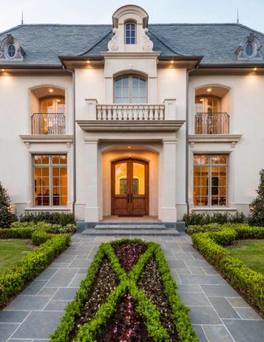 外景外墙美式风格装潢效果图