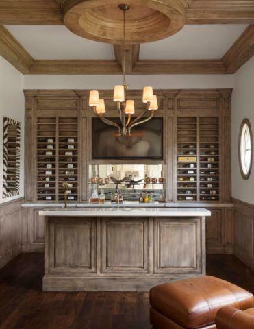 酒窖吧台美式风格装饰图片