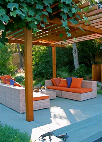 花园地砖现代风格装修图片