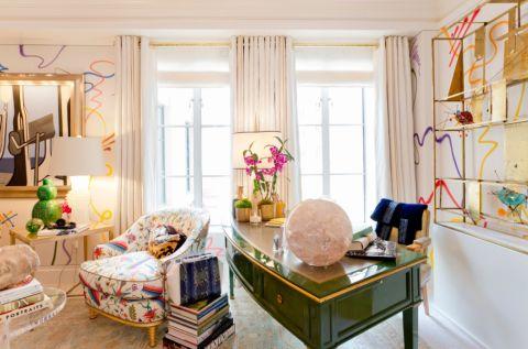 书房窗帘混搭风格效果图