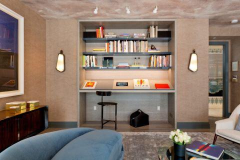 书房书架混搭风格装潢效果图