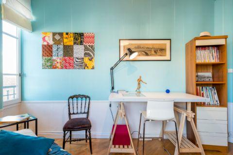 书房照片墙混搭风格装饰图片