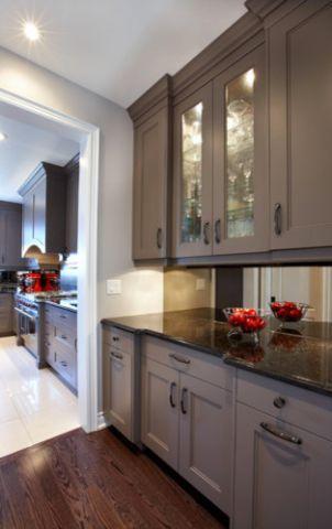 厨房现代风格效果图大全2017图片_土拨鼠干净质感厨房现代风格装修设计效果图欣赏