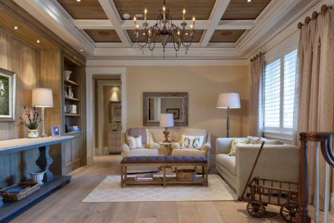 客厅美式风格效果图大全2017图片_土拨鼠豪华清新客厅美式风格装修设计效果图欣赏