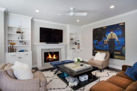 客厅现代风格效果图大全2017图片_土拨鼠优雅温馨卫生间现代风格装修设计效果图欣赏