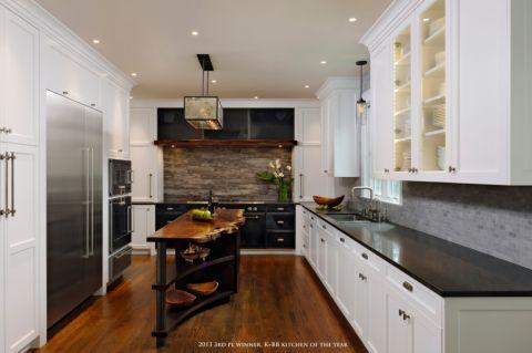 厨房美式风格效果图大全2017图片_土拨鼠优雅舒适厨房美式风格装修设计效果图欣赏