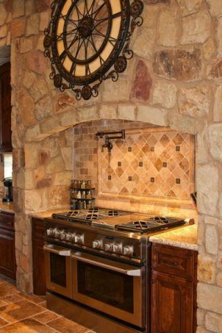 厨房背景墙地中海风格装饰设计图片