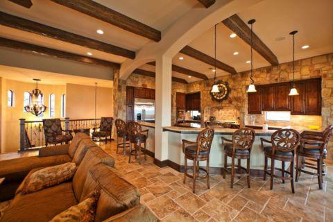 厨房吧台地中海风格装饰效果图