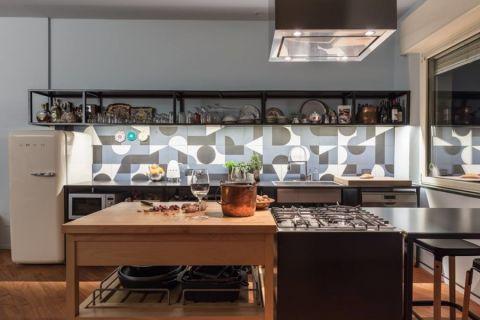 厨房混搭风格效果图大全2017图片_土拨鼠典雅清新客厅混搭风格装修设计效果图欣赏