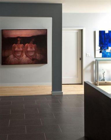 玄关背景墙现代风格装潢效果图