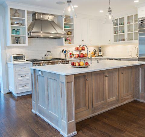 厨房美式风格效果图大全2017图片_土拨鼠干净格调书房美式风格装修设计效果图欣赏