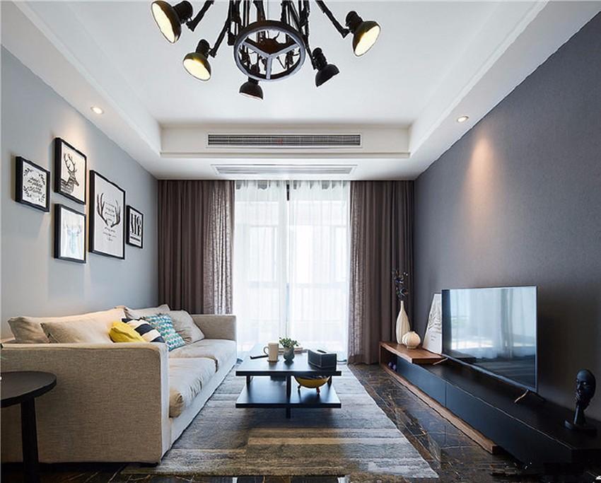 2室1卫2厅96平米现代简约风格