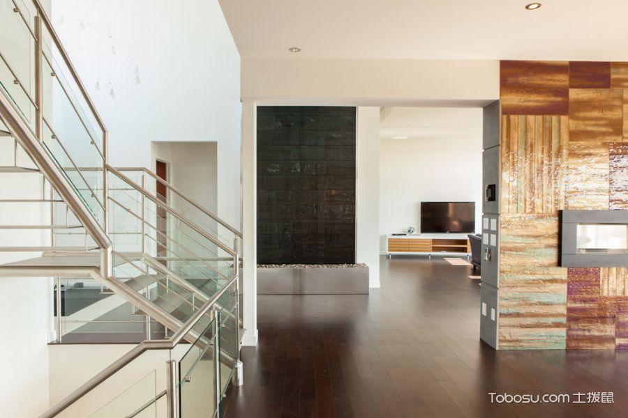 客厅橙色电视柜现代风格装潢设计图片