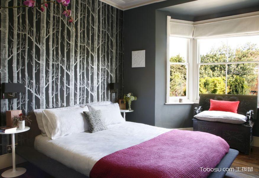 卧室灰色混搭风格装修设计图片