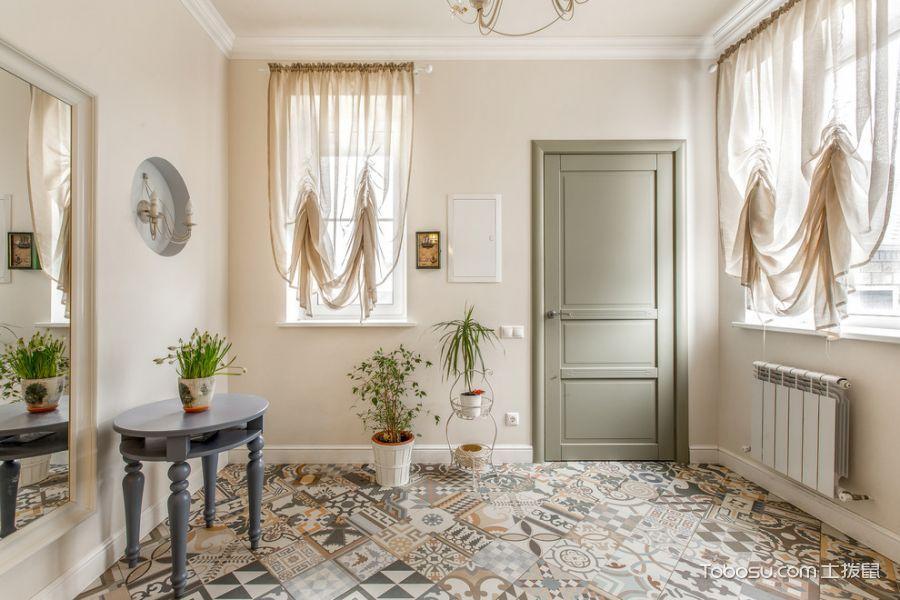 玄关彩色地砖混搭风格装修设计图片
