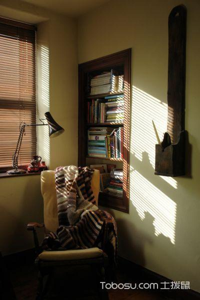 卧室咖啡色窗帘混搭风格装潢设计图片