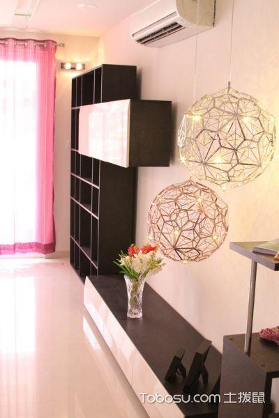 客厅黑色电视柜现代风格装潢效果图