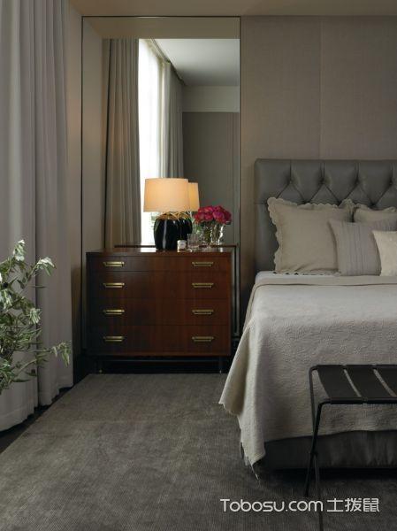 卧室灰色地板砖现代风格装饰图片