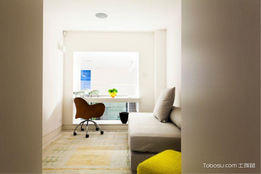 客厅白色书桌现代风格装修图片