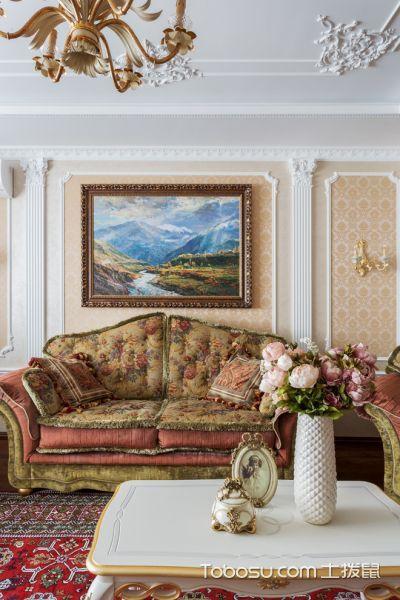 客厅彩色美式风格装饰图片