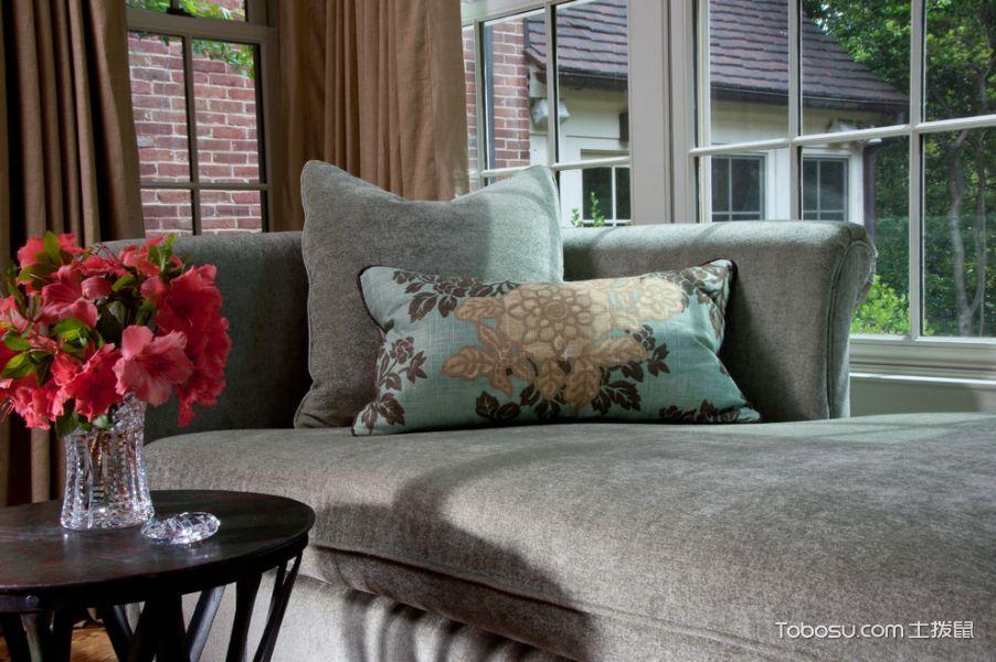 卧室咖啡色窗帘混搭风格装饰图片