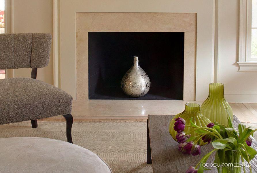 客厅白色背景墙混搭风格装潢设计图片